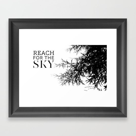 Reach For The Sky Framed Art Print