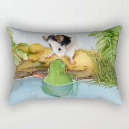 The mouse and the frog Rectangular Pillow