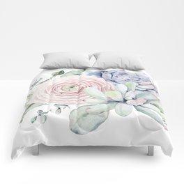 Succulent Blooms Comforters