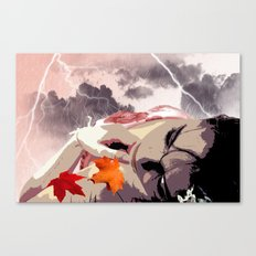 Lying In The Rain Canvas Print