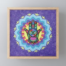 Lucky Hamsa Mandala Framed Mini Art Print