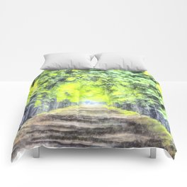 Forest Path Watercolour Comforters