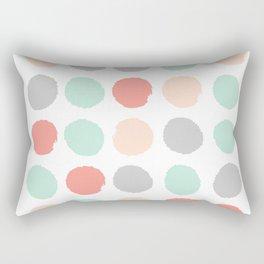 Painted minimal dots trendy gender neutral bright happy color palette nursery art Rectangular Pillow