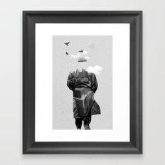 Get away from town Framed Art Print