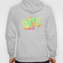 Hot tropical flowers and palms Hoody
