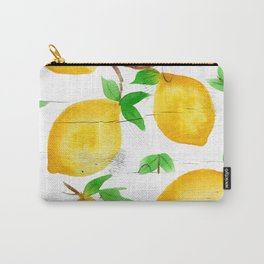 Watercolor Lemons on Farmhouse Carry-All Pouch