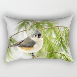 Titmouse Bird Rectangular Pillow