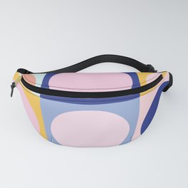 Colorful Circles in Squares Fanny Pack