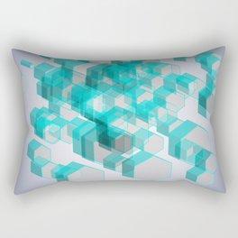 3D Hexagon Background X.2 Rectangular Pillow