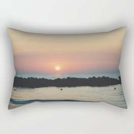 Sunset Ocean Bliss #3 #nature #art #society6 Rectangular Pillow