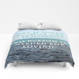 One is Loved Comforters