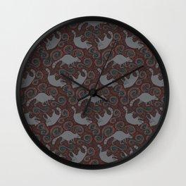 Raccoon Roundabout  Wall Clock