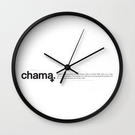Chama Wiki Wall Clock