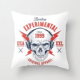 bad skull Throw Pillow