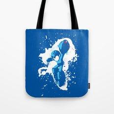 Mega Man Splattery Design Tote Bag