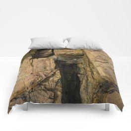 Door into the Cliff Face Comforters