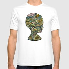 Beauty of the mind Mens Fitted Tee White MEDIUM