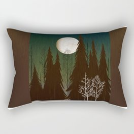 Into The Cold Winter Woods Rectangular Pillow