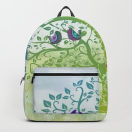 Love Birds in a Colorful Tree Backpack