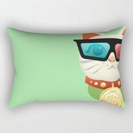 Lucky Kitty Rectangular Pillow