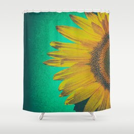 Sunflower vintage Shower Curtain