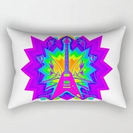 Colorful Guitar Artwork Rectangular Pillow