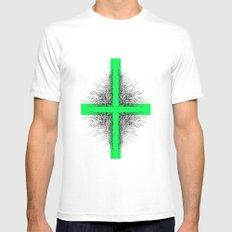 Modern Cross Mens Fitted Tee White MEDIUM
