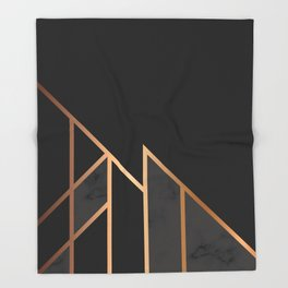 Black & Gold 035 Throw Blanket