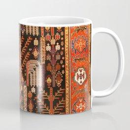 Floral Persian Bakhtiari Rug Print Coffee Mug