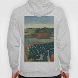 Haystacks in Brittany Oil Painting by Paul Gauguin Hoody
