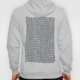 Hand Knit Grey Hoody