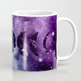 Purple Teal Galaxy Nebula Dream Moon Phases #1 #decor #art #society6 Coffee Mug