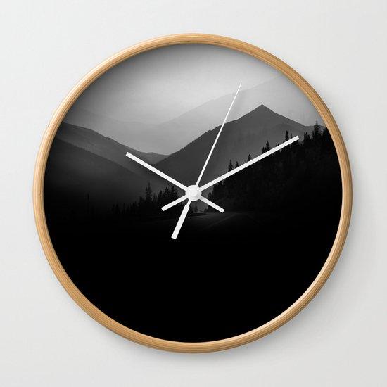 Dusky Mountains Wall Clock