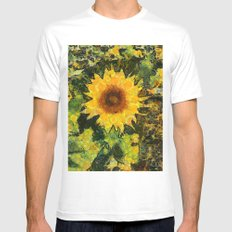 you can't have enought sunflowers Mens Fitted Tee White MEDIUM