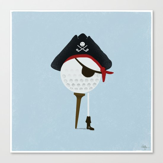 Pirate of the Open Tees Canvas Print
