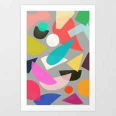colored toys 1 Art Print