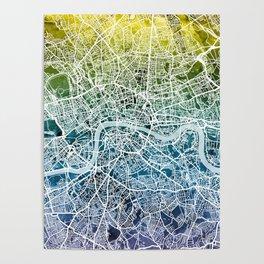London England Street Map Poster