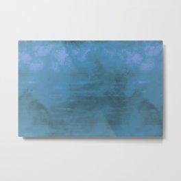 Burst of Blue & Purple Color Abstract Digital Illustration Metal Print