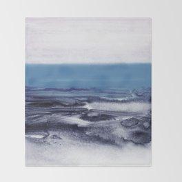 watercolor landscape - blue Throw Blanket