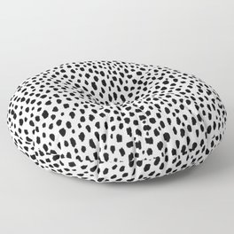 Dalmatian Spots (black/white) Floor Pillow