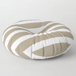 Brown Kraft Strips on White Background Floor Pillow