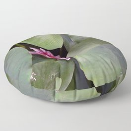 Pink Water Lilly Floor Pillow