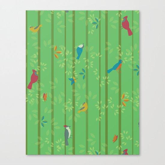 Hello Birdies Canvas Print