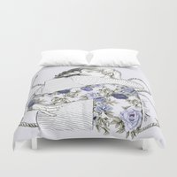 larry Duvet Covers featuring Larry by Coconut Wishes
