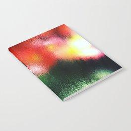 Window Rain Reflection Rainbow Lights (Color) Notebook
