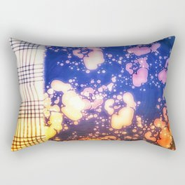 Floral splashes and checkered pattern Rectangular Pillow