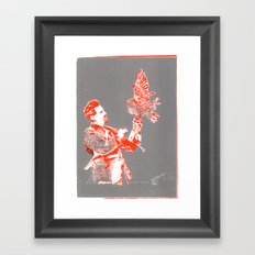 For asme with love and squalor Framed Art Print