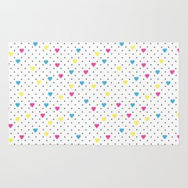 Pin Point Hearts CMYK Rug