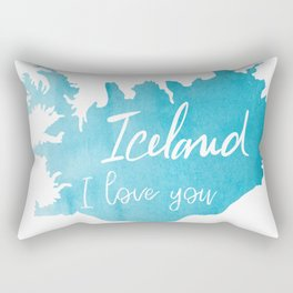 Iceland I love you - ice version Rectangular Pillow
