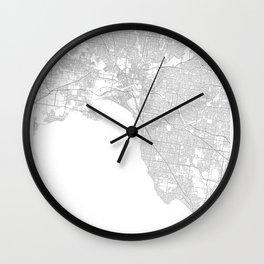 Melbourne, Australia Minimalist Map Wall Clock